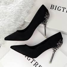 wedding shoes indonesia pointed toe velvet mid heel block heels kitten pumps prom shoes
