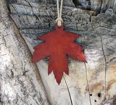 maple leaf ornament cr maxson
