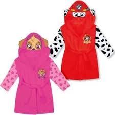 robe de chambre enfants paw patrol enfants à capuche peignoir polaire chaude robe de