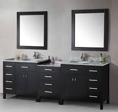 double sink modern bathroom cabinet with different color colors