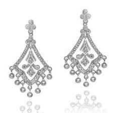 Black And Silver Chandelier Earrings Kabella Sterling Silver Cubic Zirconia Lace Design Chandelier
