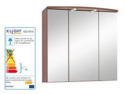 spiegelschränke für badezimmer held next 3d spiegelschrank 3türig nussbaum 70x69x20 cm lidl