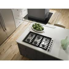 Jenn Air 4 Burner Gas Cooktop Jgc7636bs In Euro Style Stainless Knob By Jenn Air In Springfield