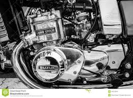 suzuki motorcycle black engine of the first japanese motorcycle with a liquid cooled
