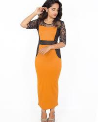buy tiara collection black u0026 yellow color block dress online at