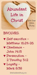 bite size bible study 4 marks of the christian life