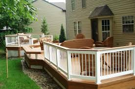 Wooden Decks And Patios Multi Level Decks And Deck And Patio Combinations Mean Multi