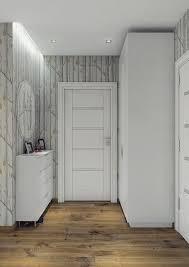 escalier peint en gris couleur gris taupe bois massif et déco géométrique