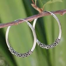 thailand earrings handmade sterling silver traditional thai earrings thailand