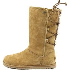womens ugg lo pro boots lyst ugg lo pro lace up us 5 brown mid calf boot in brown