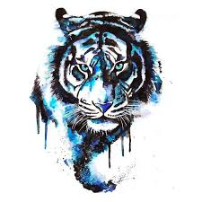 blue watercolor tiger tattoo design watercolor tiger tiger