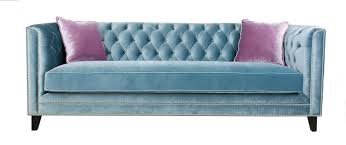 pasargad victoria collection velvet sofa blue with 2 lavender