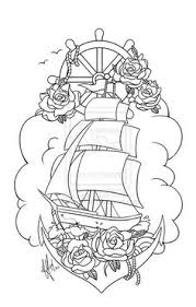 pirate ship tattoo by s0n r1sa on deviantart tattoo pinterest