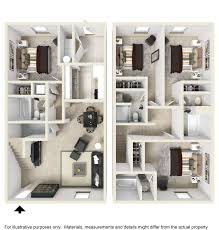 Townhome Floorplans by Floor Plans Polo Club Athens Apartments