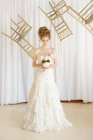 Whimsical Wedding Dress Gold Cream And Blush Whimsical Wedding With Airbrushed Lace