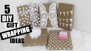 Ideas Of Gift Wrapping - 5 easy diy gift wrapping ideas creative and cute storeeofmylife