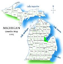 map of michigan michigan county map bay journal