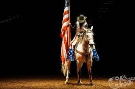 Horse With American Flag Friday Night Rodeo At The Cowtown Coliseum Jon The Road Again