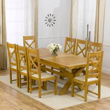 Oak Extending Dining Table And 8 Chairs Faversham Solid Oak 200cm Extending Dining Table With 8 Faversham