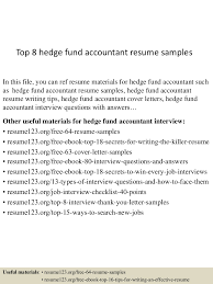 Best Accounting Resume Font by Top8hedgefundaccountantresumesamples 150527135200 Lva1 App6892 Thumbnail 4 Jpg Cb U003d1432734767