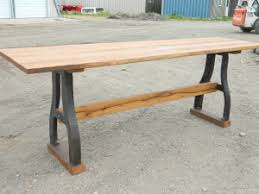 bar height table industrial industrial style tables with reclaimed wood antique woodworks