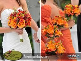 silk wedding bouquets real touch wedding bouquets real touch orange roses real touch