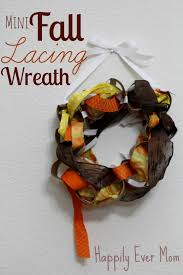 mini fall lacing wreath tp rolls and ribbons happily ever mom