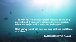 padi rescue diver training course youtube
