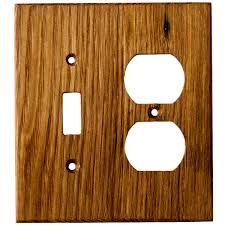wormy chestnut reclaimed wood wall plates 2 gang combo light