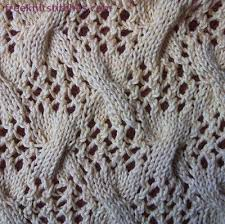 how to knit different patterns twist on the delicate grid