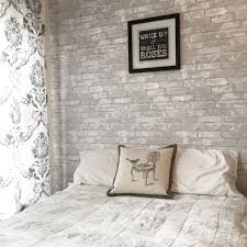 white brick peel and stick nuwallpaper perfect for a bedroom