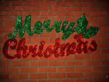 lighted merry christmas sign outdoor ebay
