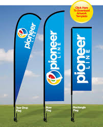Flag Stakes Promotional Flags