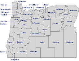 oregon county map oregon blue book map index click on county for more information