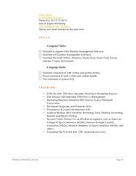 Fitness Resume Essay Publication Contest Dissertation Architektur Professional