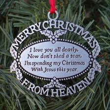 merry christmas from heaven merry christmas from heaven ornament personalized happy valentines