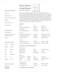 resume acting resumes acting resume format no experience acting