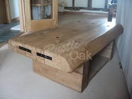 rustic oak coffee table waney edged coffee table with shelf rustic oak