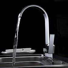 Kitchen Faucet Modern Chrome Finish Contemporary Stainless Steel Brushed Kitchen Faucet