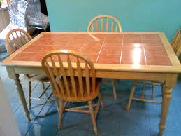 Tile Top Kitchen Table And Chairs For Sale - Tile top kitchen table and chairs
