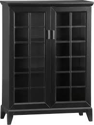 Media Cabinet Glass Doors Black Media Cabinet With Glass Doors Cabinet Ideas