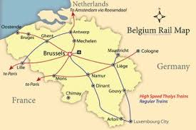 map of germany cities netherlands map showing rail lines and tourist cities