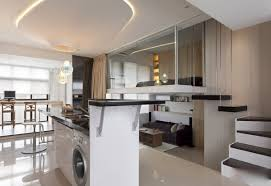modern day kitchens modern day little apartment with open strategy and loft bedroom