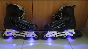 light up inline skates inline skates with rgb led youtube