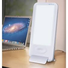 Light Box Therapy The Desktop Light Therapy Lamp Hammacher Schlemmer
