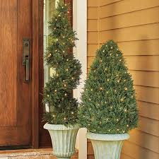 Light Up Topiary Balls - cypress cone artificial topiaries improvements catalog