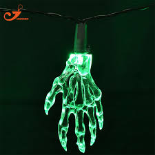 green led string lights new halloween skeleton hands party string lights 10 light skull