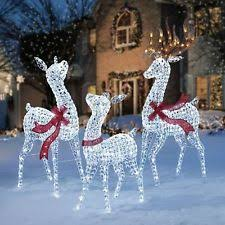 Outdoor Deer Christmas Decorations by