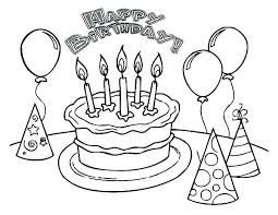 coloring pages for birthdays printables birthday cake coloring page teddy bear and present and happy