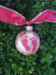 baby footprint ornament baby shower by brushstrokeornaments